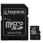 Cartão de Memória Kingston Micro SD 4GB