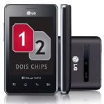 Celular LG E405F Optimus 2 Chips Preto
