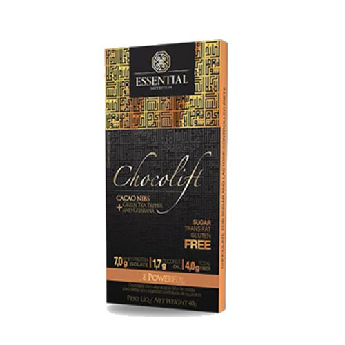 ChocoLift - Barra de 40g Cacao Nibs - Essential Nutrition