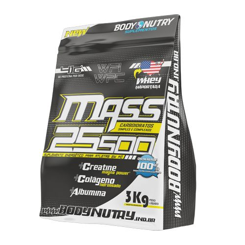 Mass 25500 3kg Morango Com Banana - Refil Body Nutry