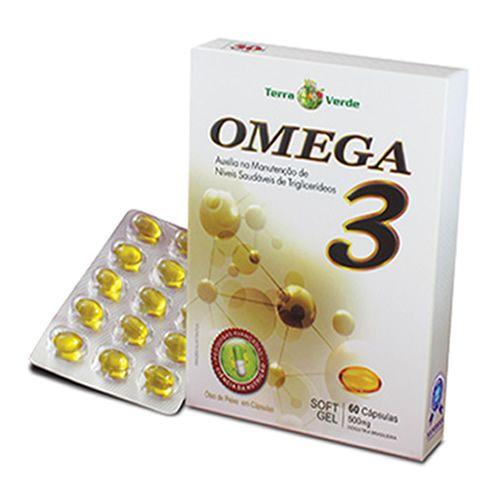762e35dc6 Omega 3 - 60 Cápsulas 500mg Soft Gel - Terra Verde - www.lojautil.com.br