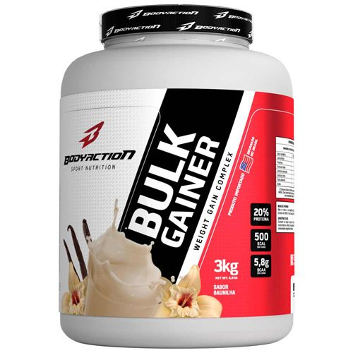 Bulk Gainer - 3000g Baunilha - BodyAction
