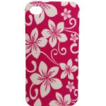 Capa para Celular Rosa Com Flores - IPhone 4