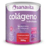 Colágeno Hidrolisado - 300g Morango e Açaí - Sanavita