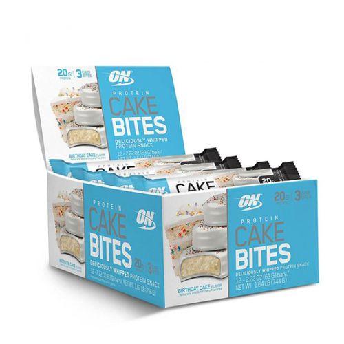 Protein Cake Bites - Cx 12 Unidades de 63g Birthday Cake - ON*** Data Venc. 30/05/2018